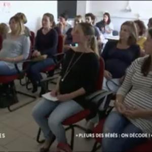 La maison des maternelles a diffusé un extrait filmé d'un atelier sur les pleurs des bébés à la maternité de Pertuis